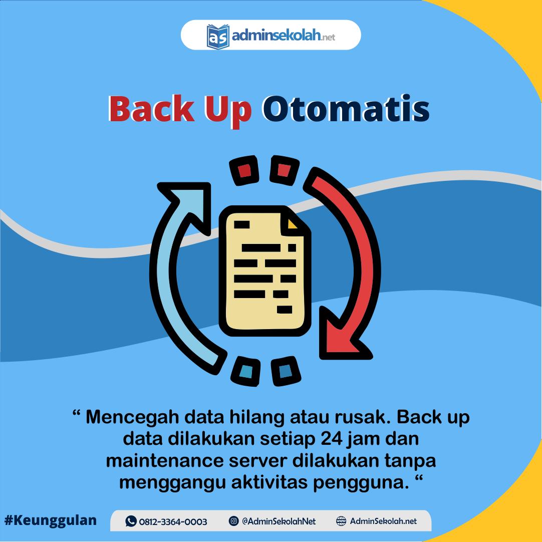 #Keunggulan Adminsekolah.net!!! Backup Otomatis
