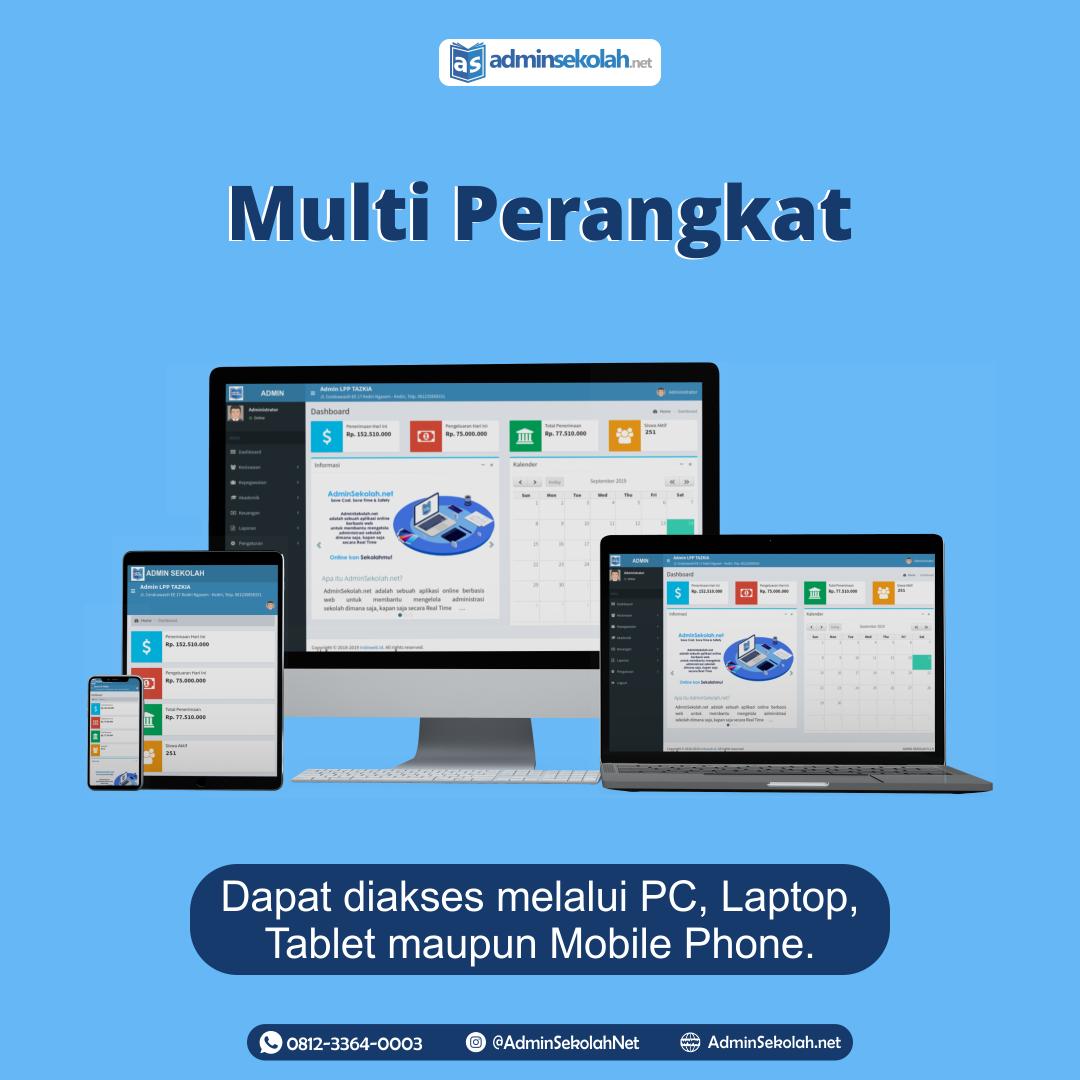 #Keunggulan Adminsekolah.net!!! Multi Perangkat