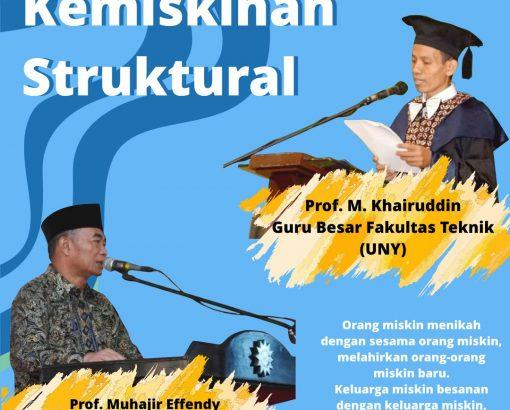 #Berita Adminsekolah.net ! Prof. Muhajir & Prof. Udin : Kemiskinan Struktural.