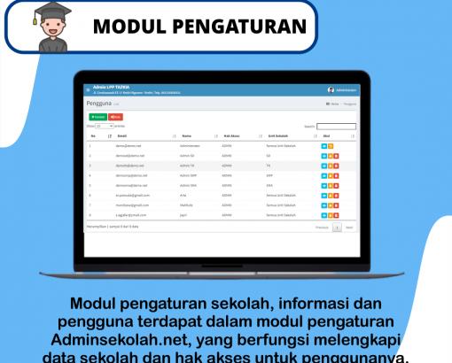 #Layanan Adminsekolah.net !!! MODUL PENGATURAN