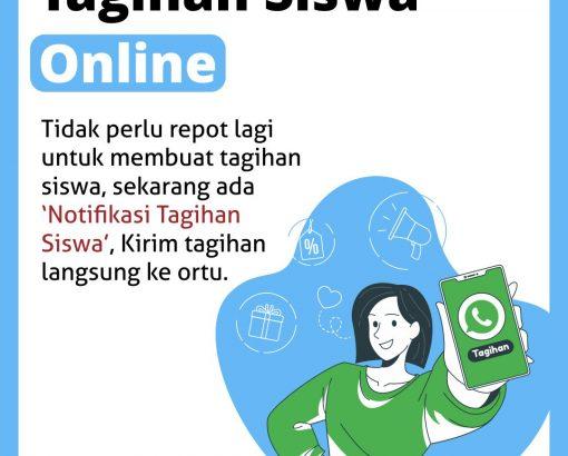 Notifikasi Whatsapp : Tagihan Siswa
