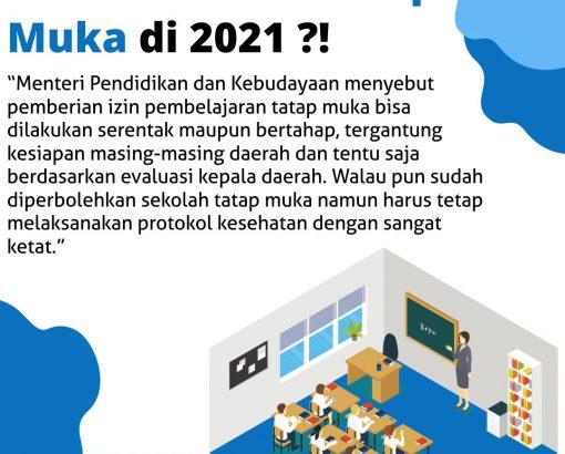 Sekolah Mulai Tatap Muka di 2021 ?!