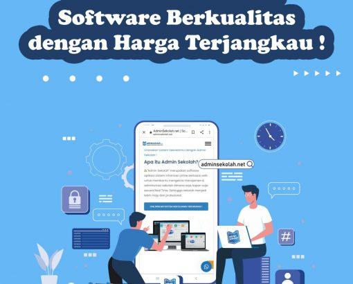 Administrasi Sekolah. Software Berkualitas dengan Harga Terjangkau !