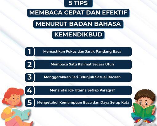 5 Tips Membaca Cepat dan Efektif Menurut Badan Bahasa Kemendikbud